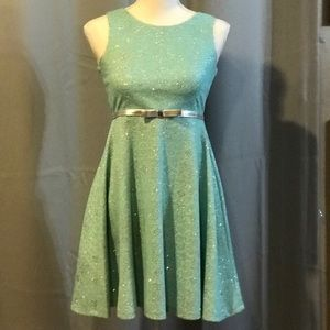 Mint colour sparkly girls dress